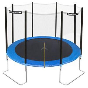 Ultrasport Gartentrampolin Jumper inkl. Sicherheitsnetz, Blau, 305 cm Fitness Trampolin