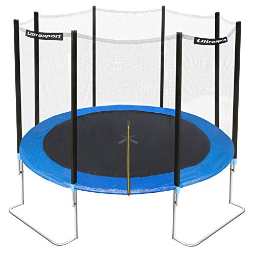 Ultrasport Gartentrampolin Jumper inkl. Sicherheitsnetz, Blau, 305 cm