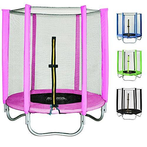 sixbros sixjump 1 40 m gartentrampolin pink trampolin mit sicherheitsnetz t140 1534. Black Bedroom Furniture Sets. Home Design Ideas